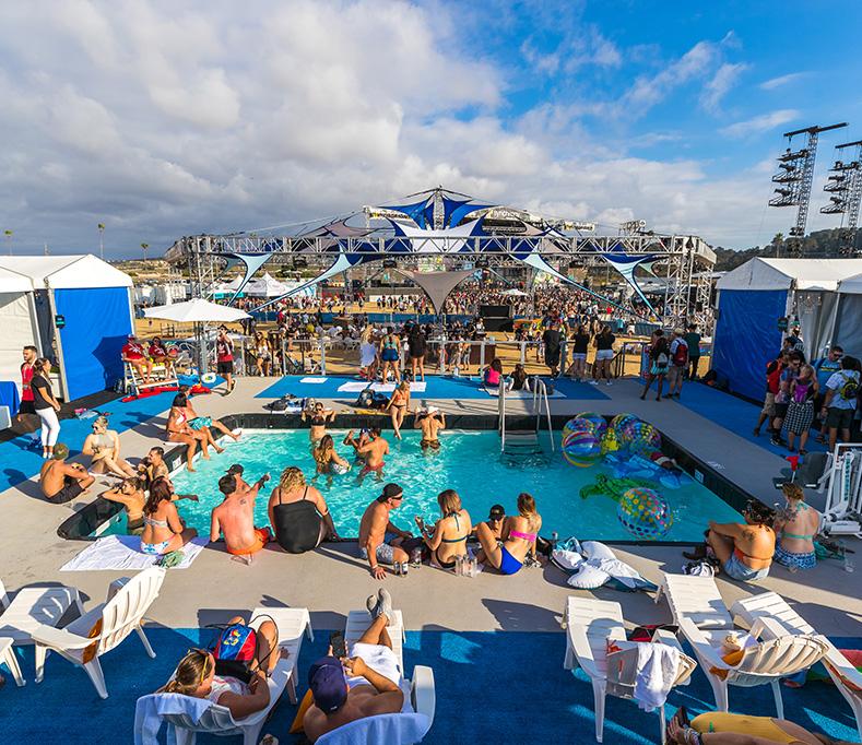 KAABOO Bask pool lounge