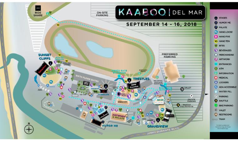KAABOO Del Mar Map