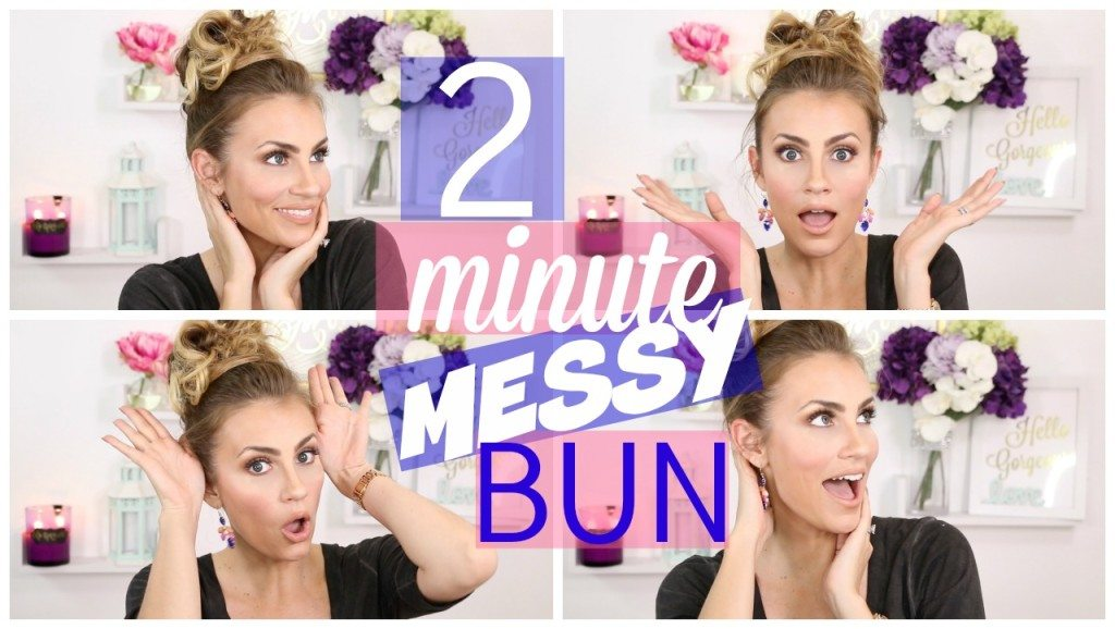 VIDEO: Perfect Messy Bun in UNDER 2 Minutes!
