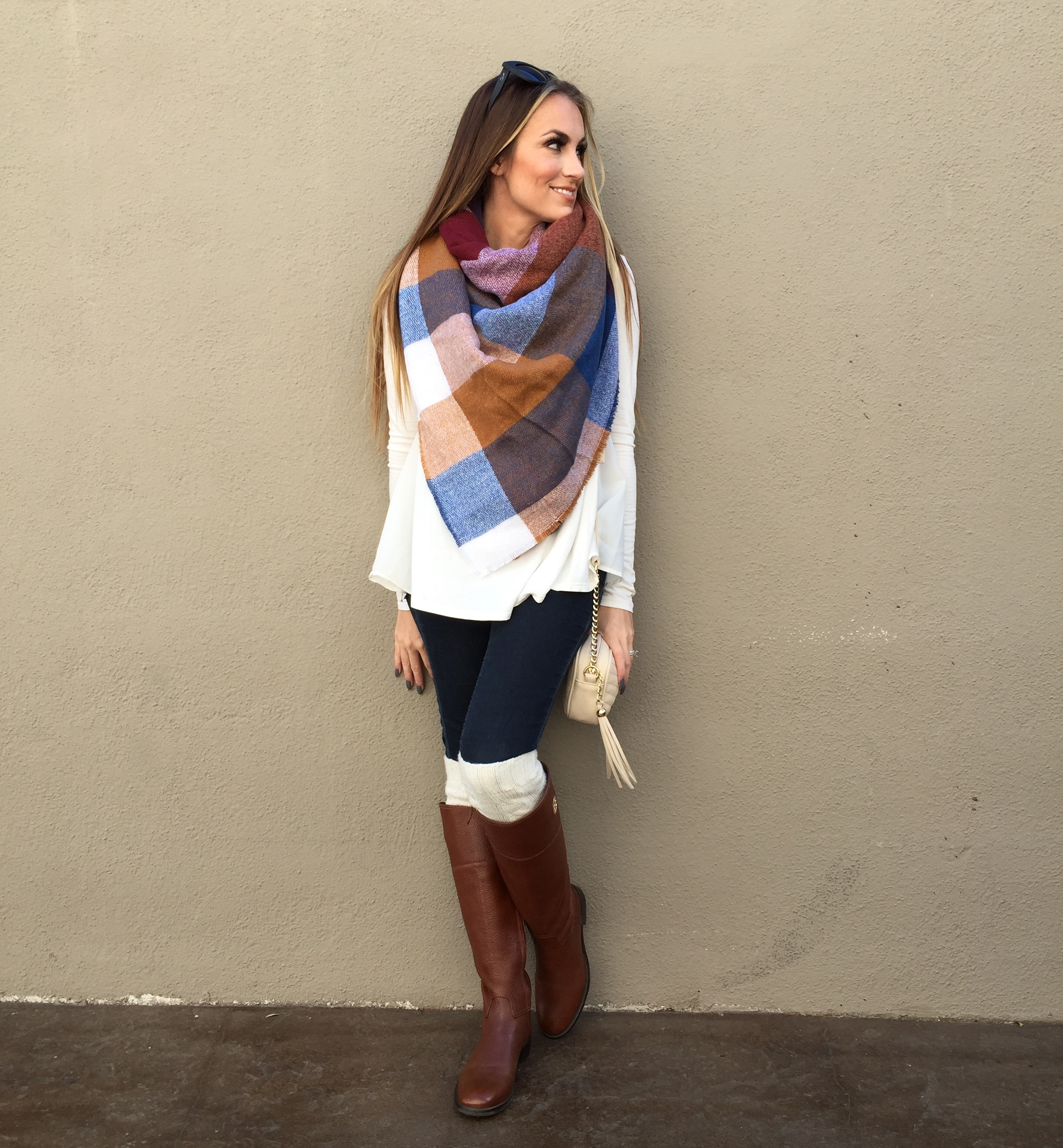 asos blanket scarf fall outfit angela lanter hello gorgeous