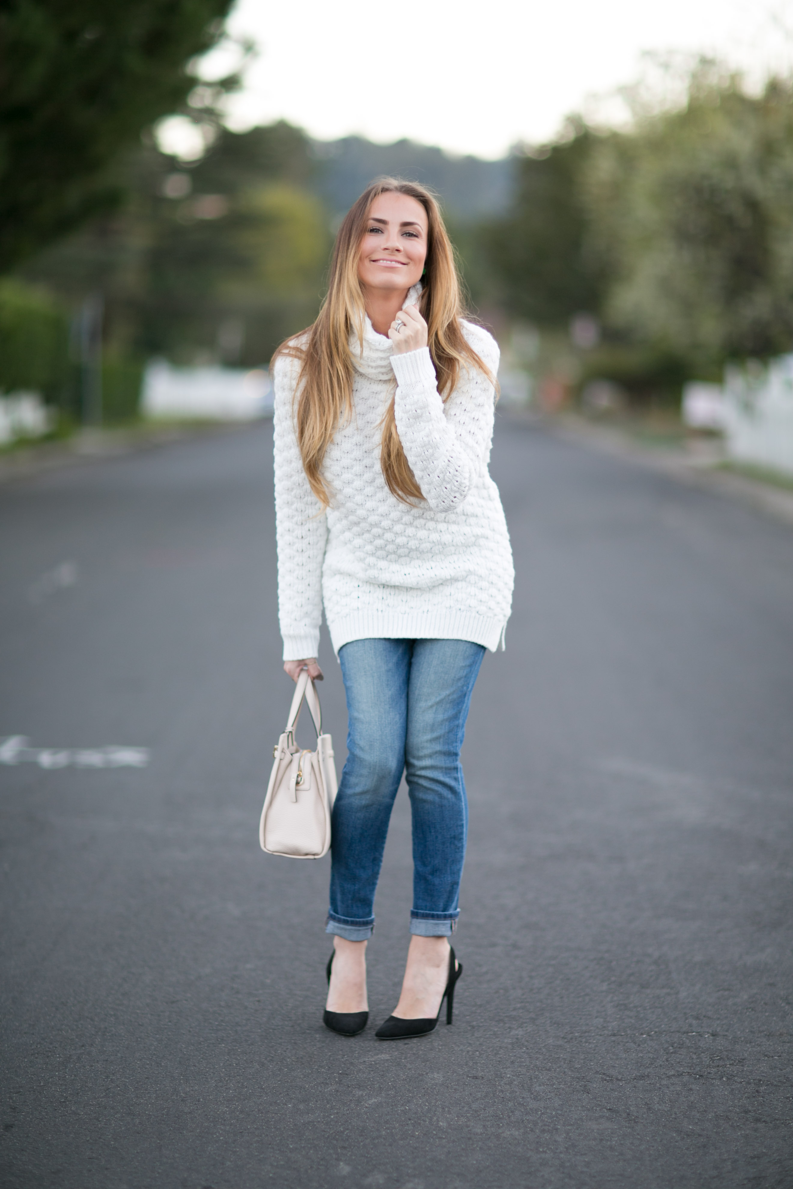 white turtleneck sweater skinny jeans fall outfit angela lanter hello gorgeous