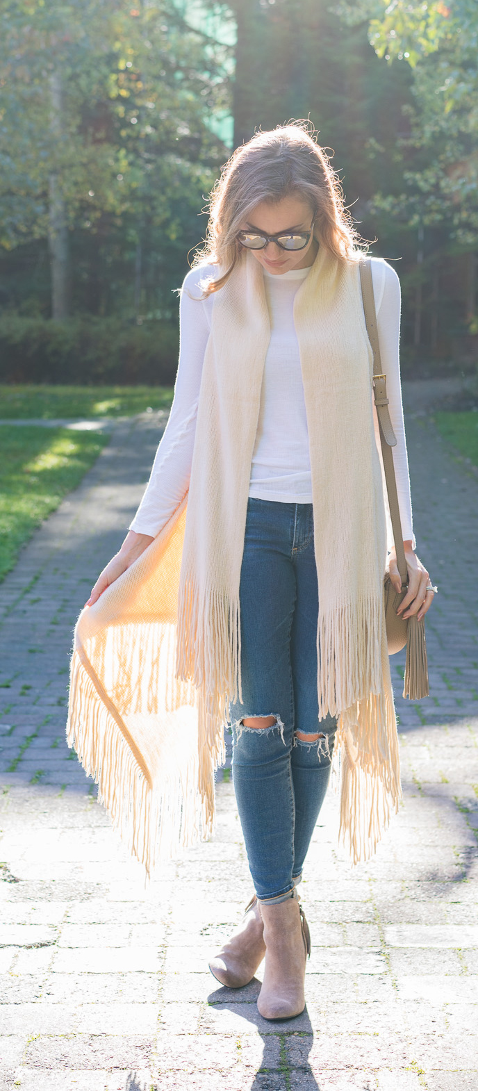 Cozy fall brunch outfit - Angela Lanter