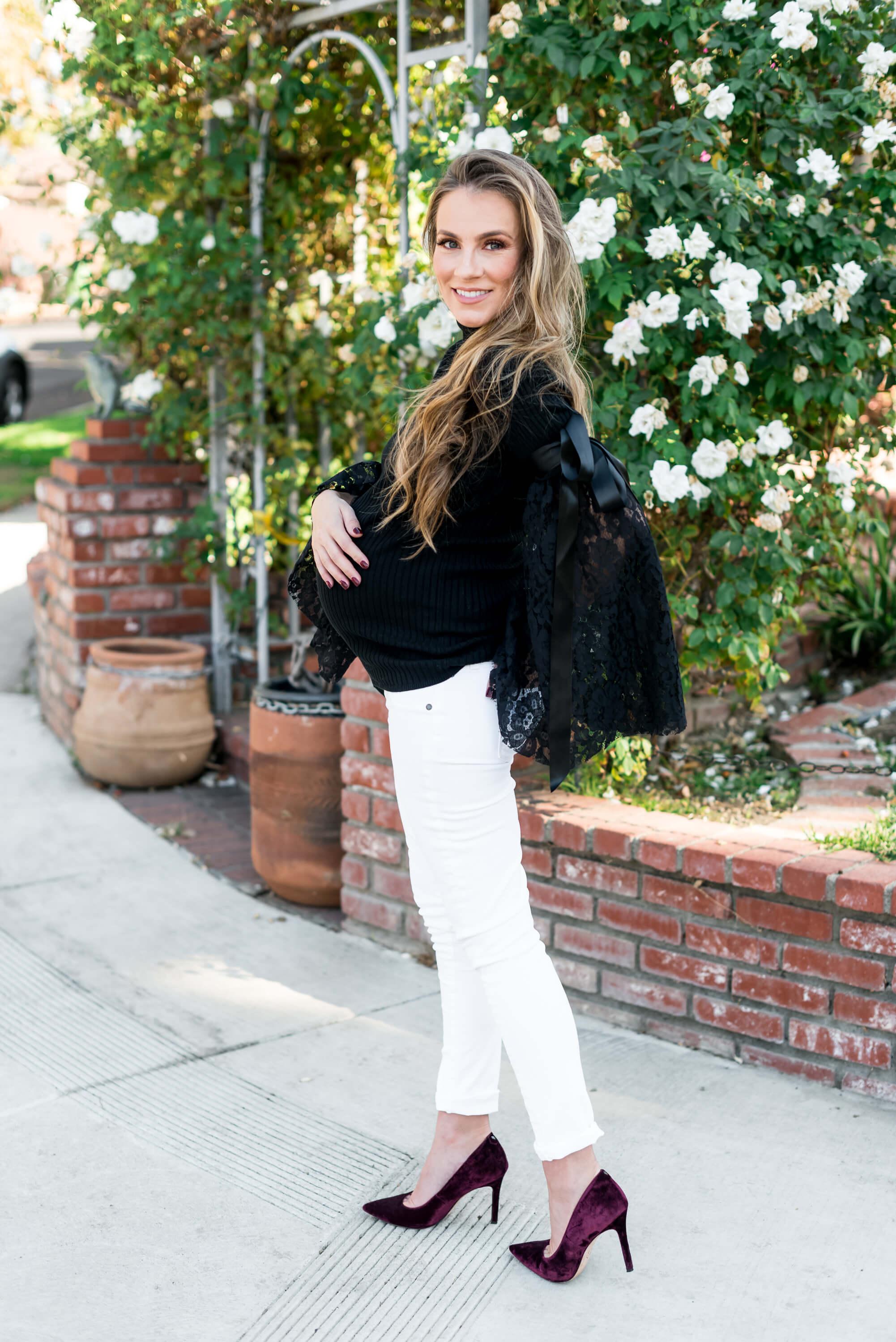 maternity ASOS sweater angela lanter hello gorgeous