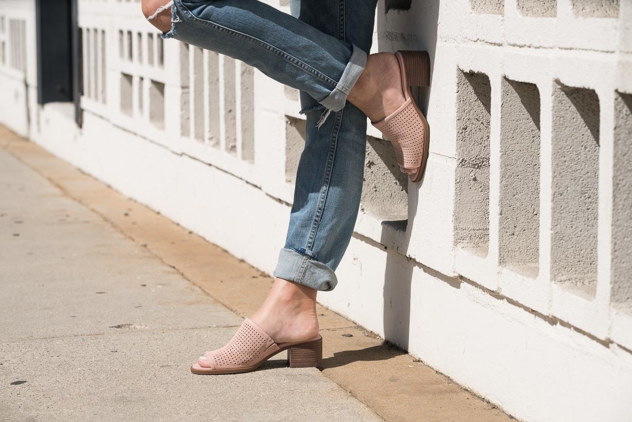 Angela Lanter Hello Gorgeous Koolaburra pink mules sandals