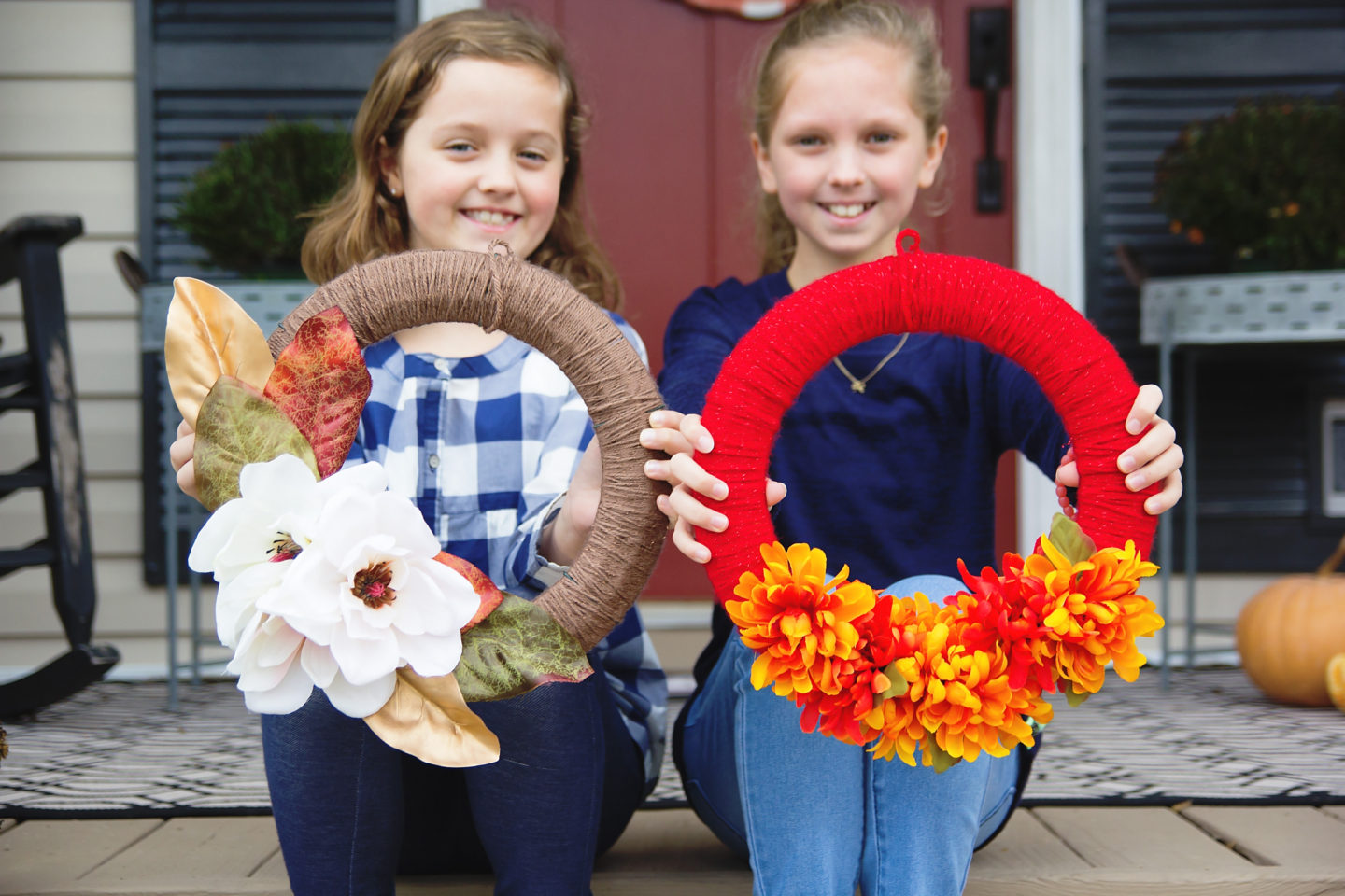 kid-friendly fall wreath