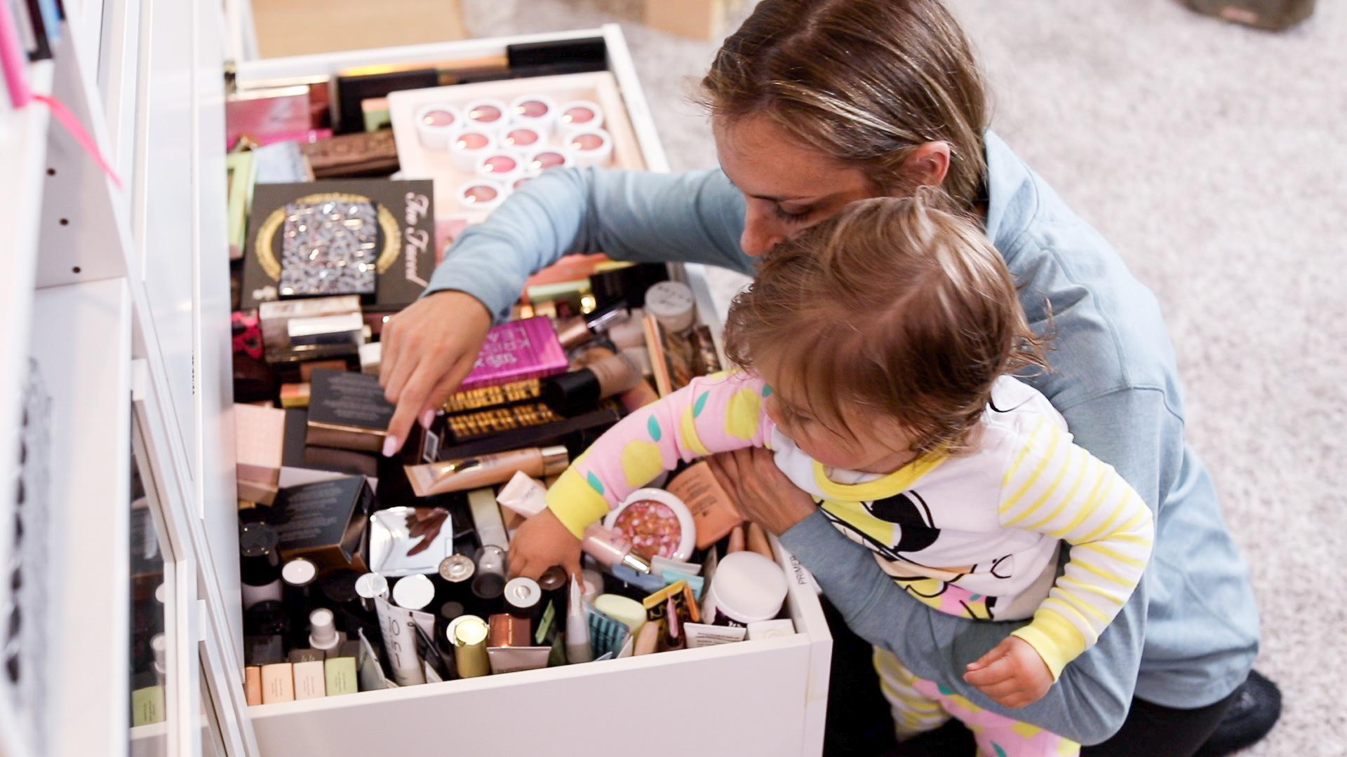 Baby Picks My Makeup