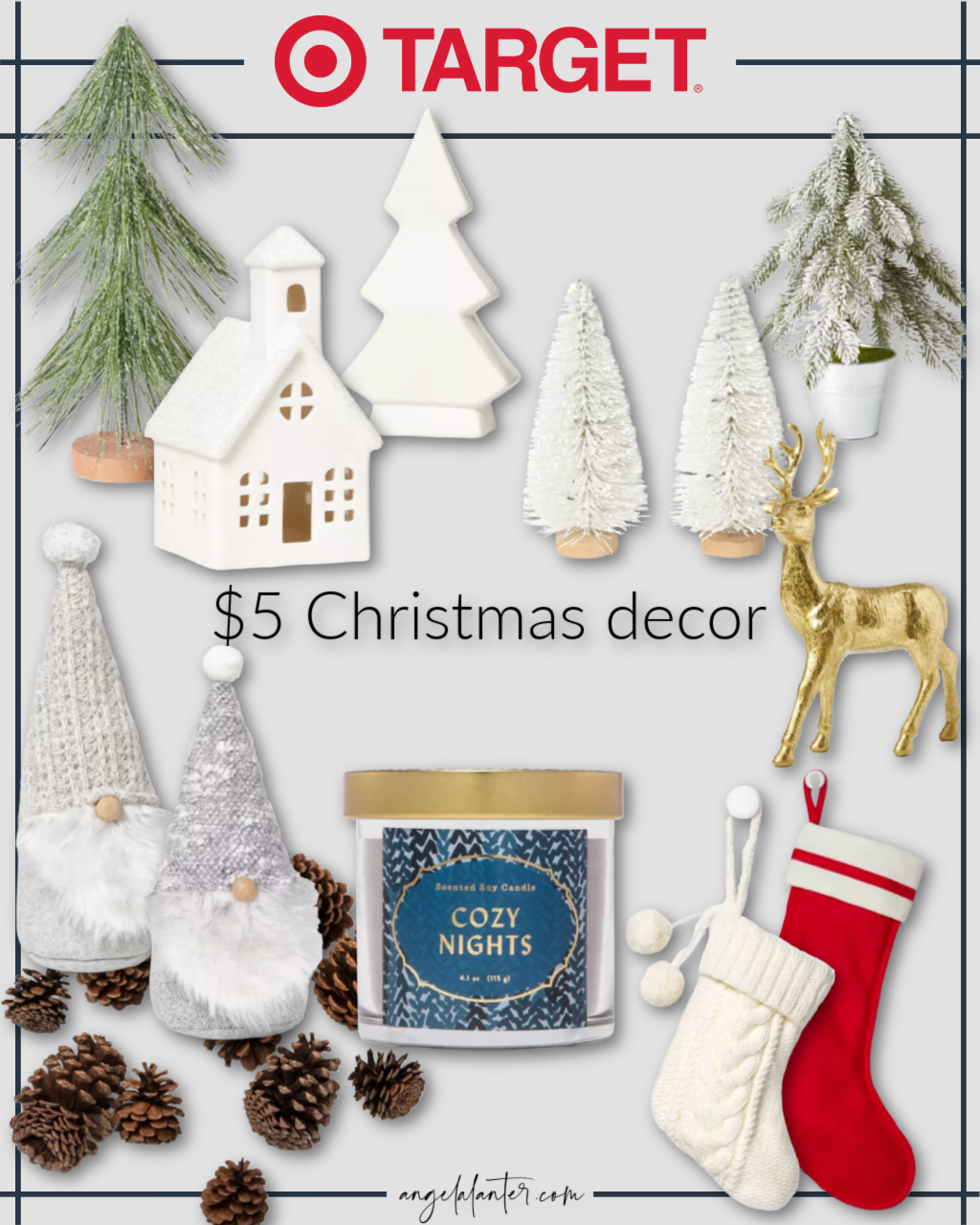 11 Christmas Decor Pieces from Target that Cost Only $5!
