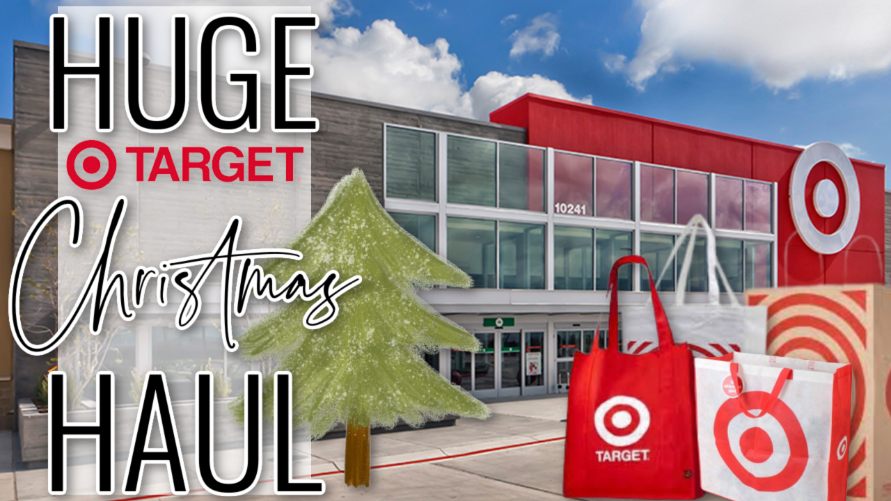 HUGE CHRISTMAS TARGET HAUL! Home Decor and Fashion!