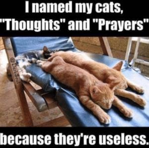 Thoughts & Prayers are useless - action required