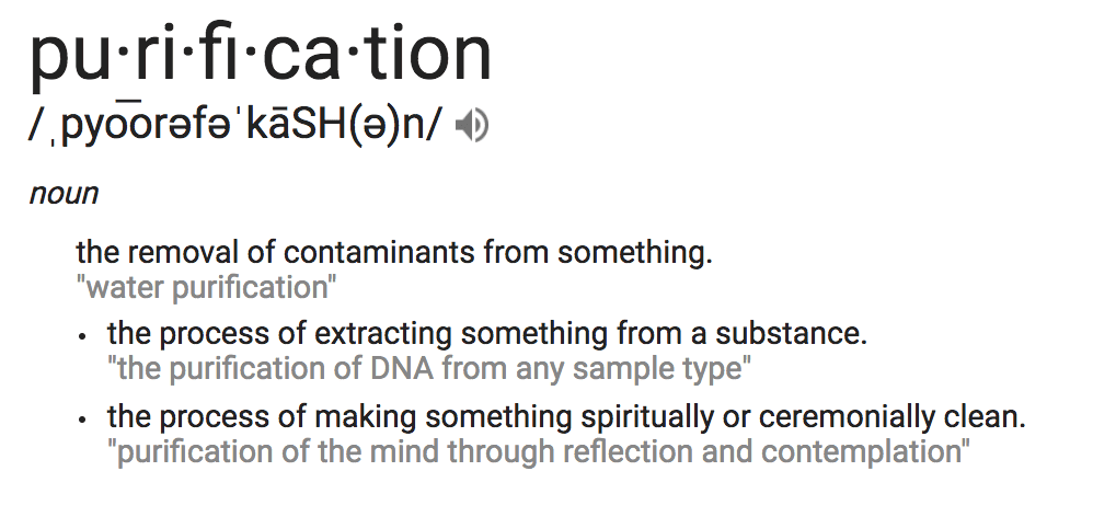 Purification definition