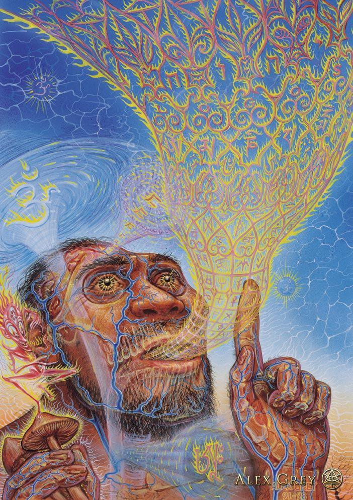 Origin of Language - Alex Grey | Saxcerpts | Megan Sax blog | Yoga, Sound Healing, Mantra | Raise your vibrations