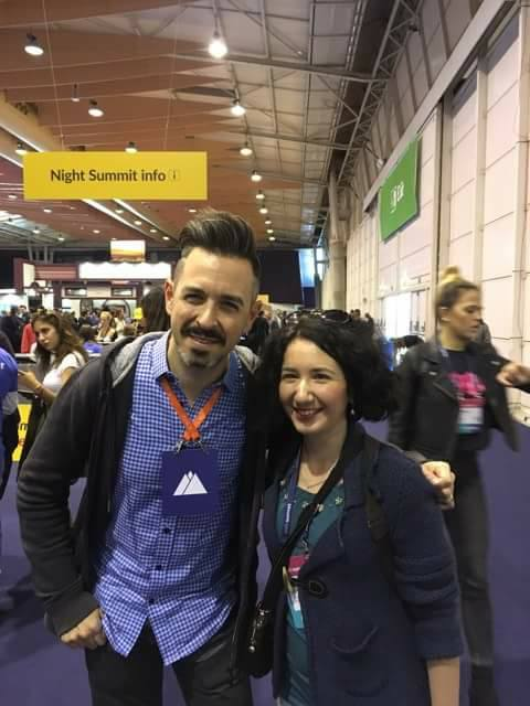 With Rand Fishkin, Moz and SparkToro founder, at WebSummit, Lisbon