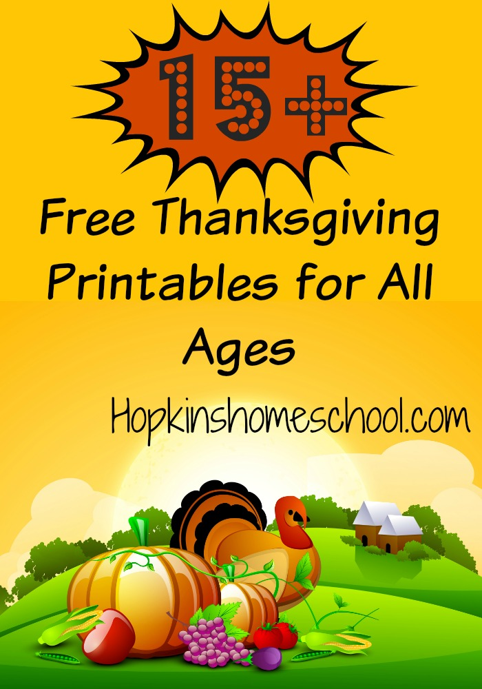 15+ Free Thanksgiving Printables for All Ages