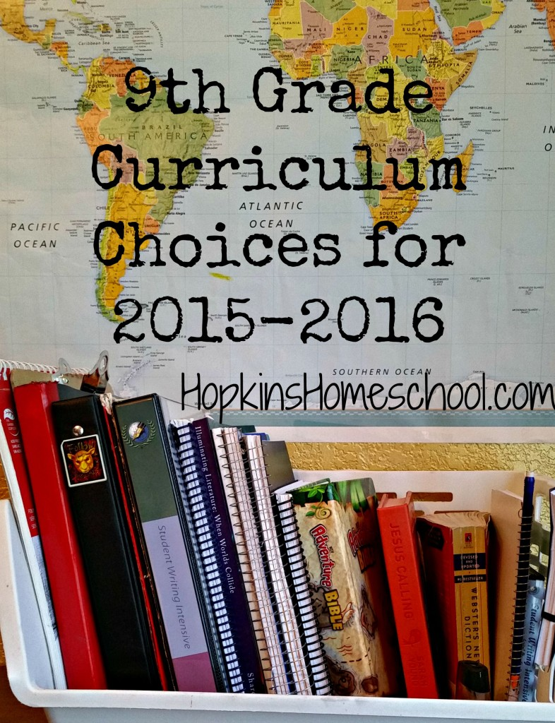 9th Grade Curriculum Choices