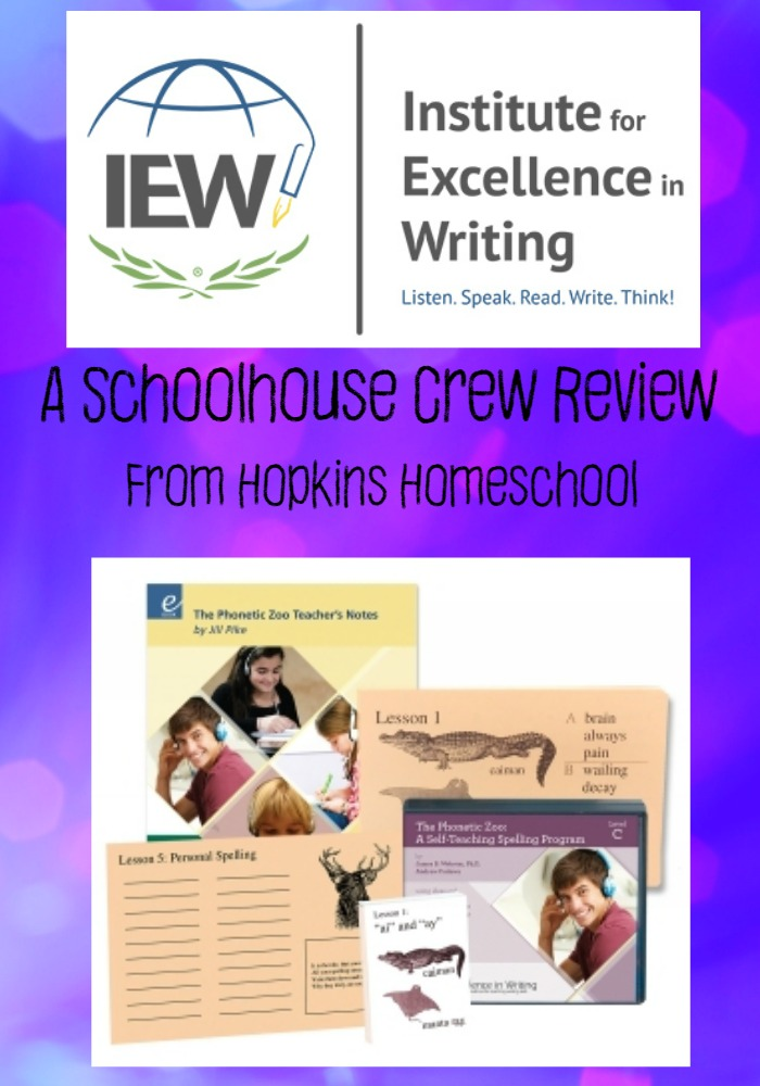 IEW Phonetic Zoo Review