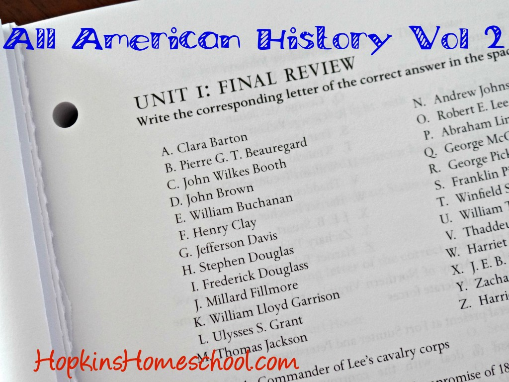 Unit Review All American History Vol 2