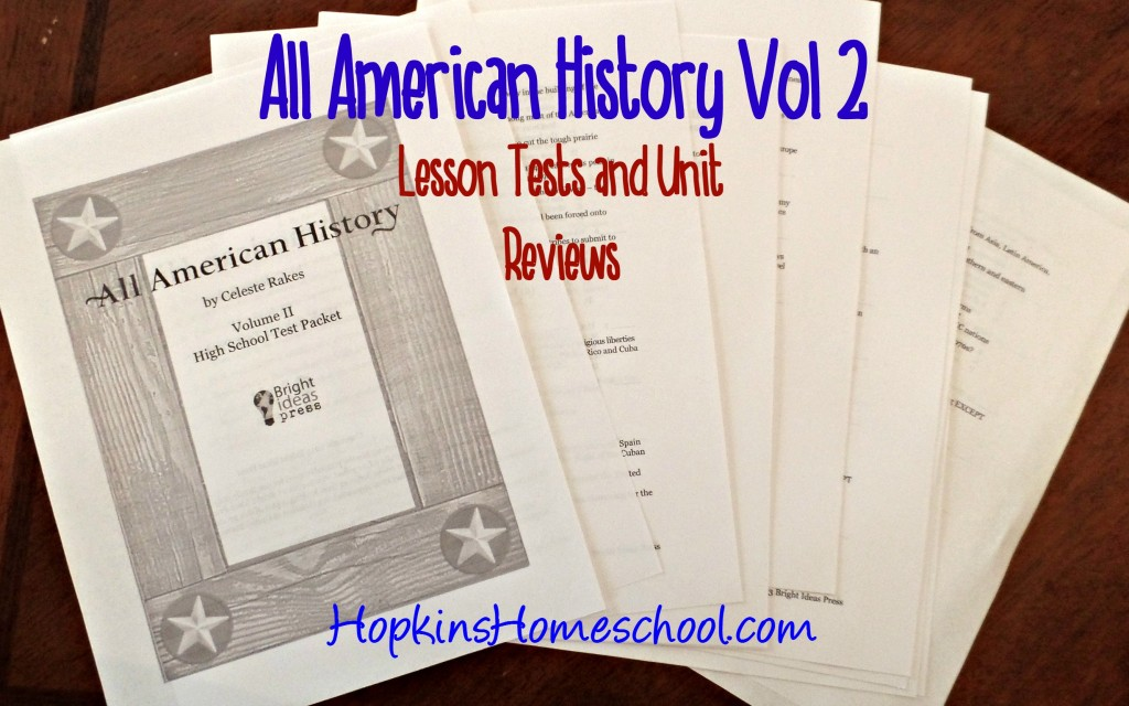 High School Test Packet All American History