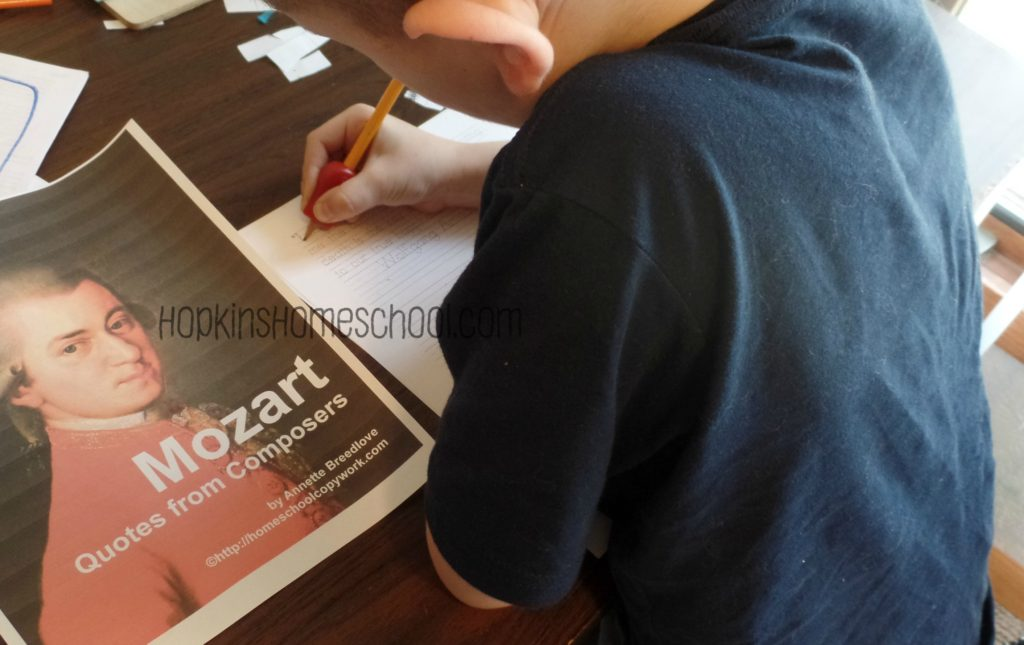 Homeschool Copywork