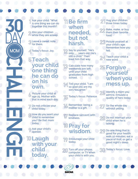 30 Day Mom Challenge
