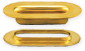 Oblong grommets and washers in brass finish - Stimpson