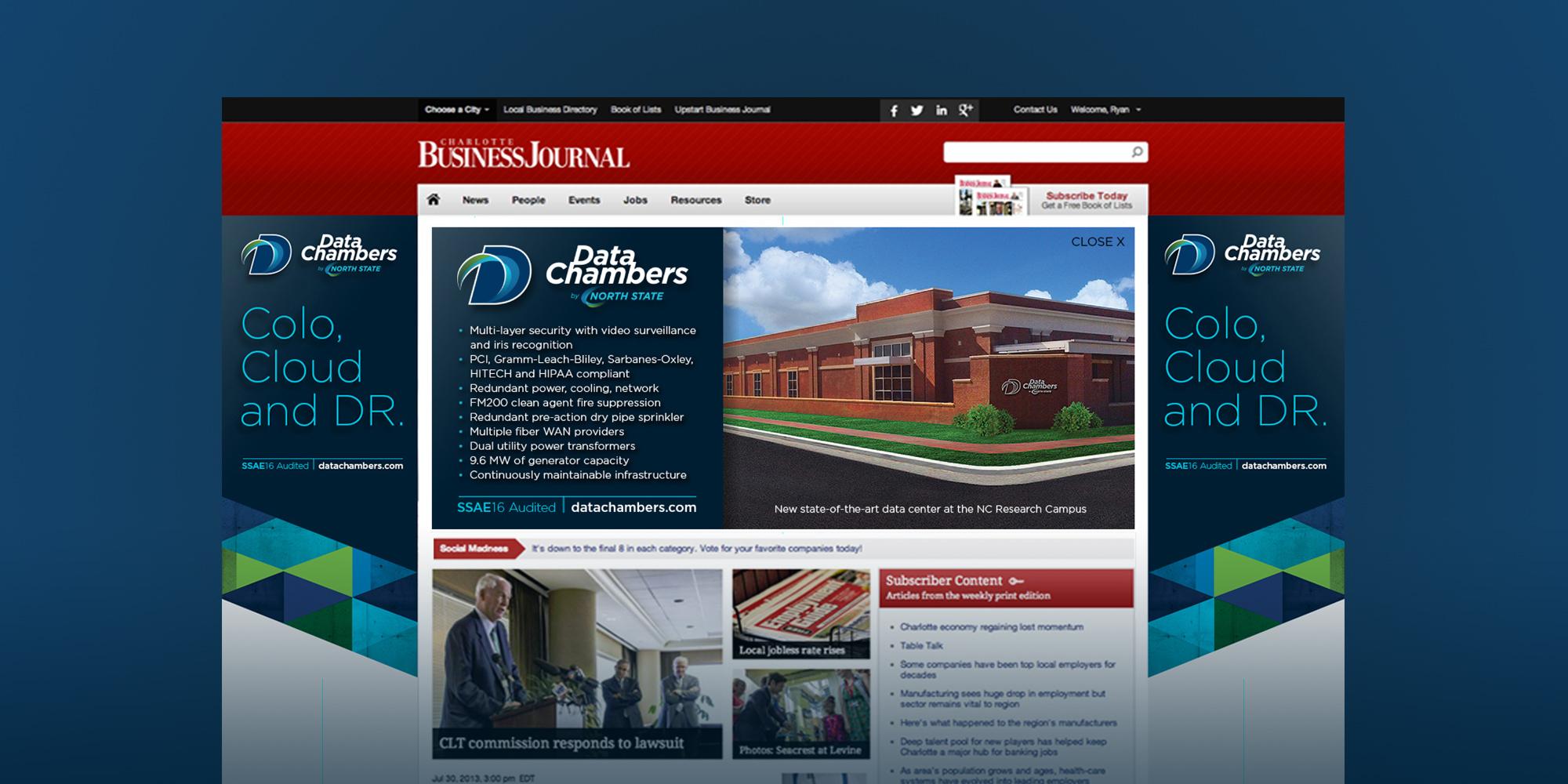 DataChambers Charlotte Data Center Campaign