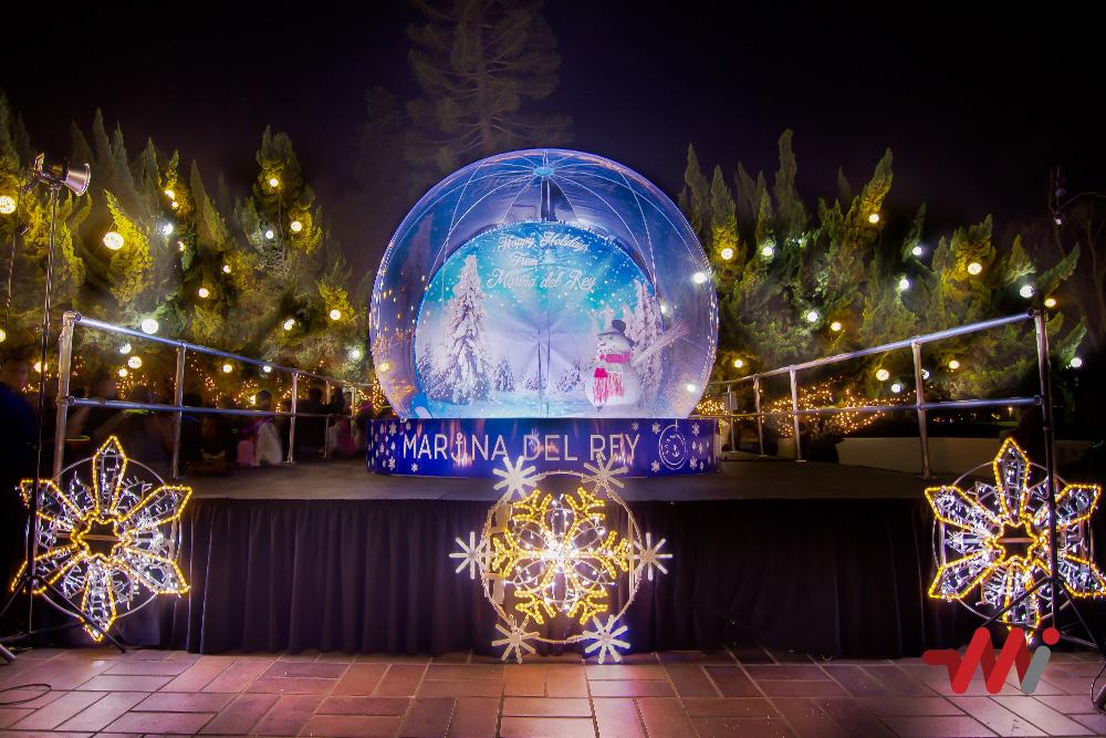 Christmas Lighting Installation - Burton Chace Park