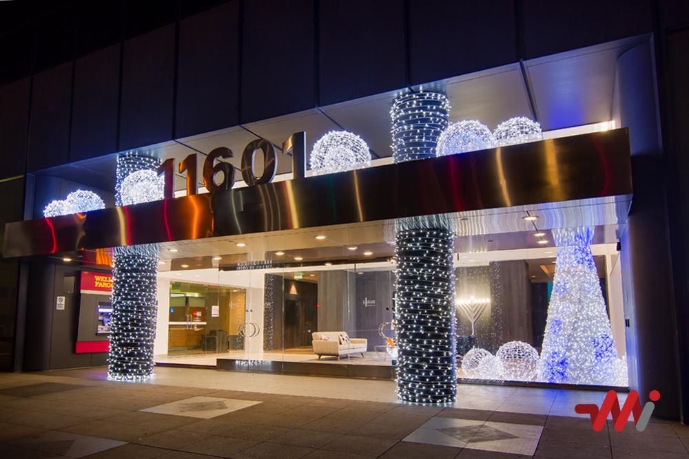 Christmas Lighting Installation - Hudson Pacific