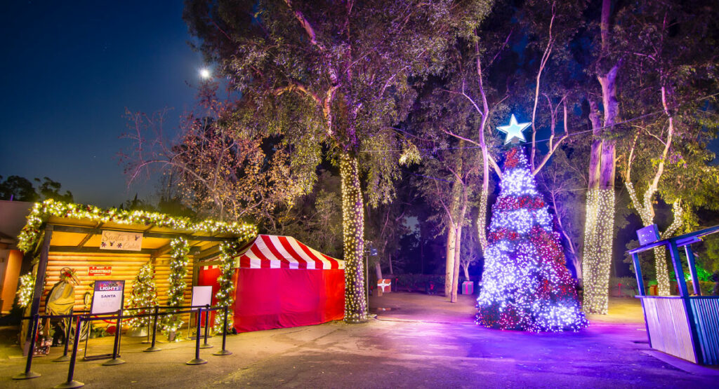 LA Zoo Lights Santa Village