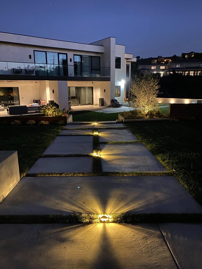 In Ground Lights Highlighting Path