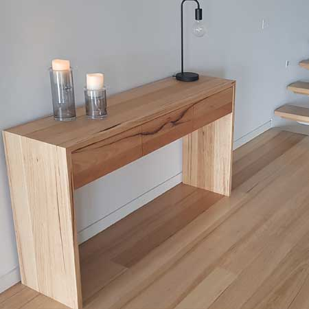 domain console table in Messmate timber