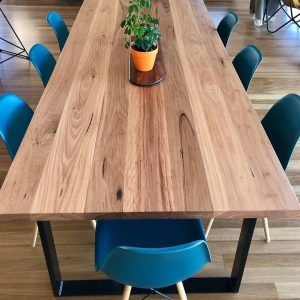 hoop leg blackbutt dining table image