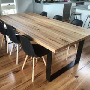 dining room table in messmate timber