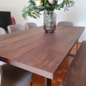 Walnut dining table furniture designs