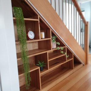 Modern Bookshelves in stairwalls
