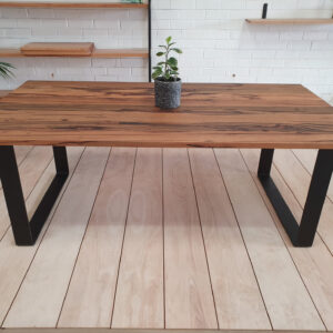 Messmate steel leg dining table