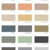 Round Vessel Basin Color chart