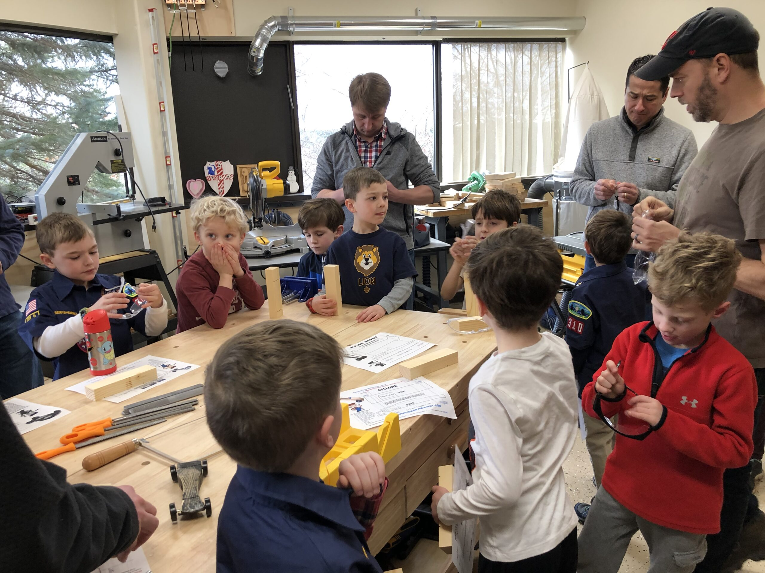 Pinewood Derby Build at New England Sci-Tech