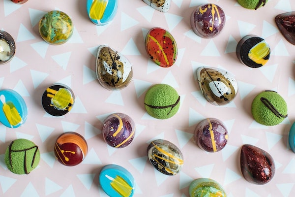 East End Taste ~ These Dallas Chocolates are Masquerading as Mini Abstract Art