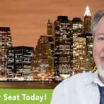 Photo of Dr. Samuel E. Cress, DDS along with a logo for the Greater New York Dental Meeting Sleep Apnea Symposium at which he will be speaking during this 4-day event, November 30 - December 4, 2019