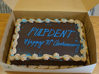 Pulpdent 70th Anniversary Cake