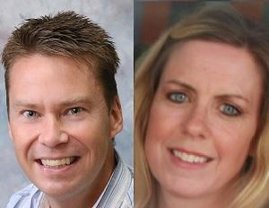 Jon Moffitt and Jennifer O'Doherty