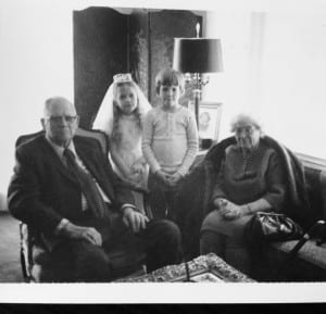 My First Communion, with my cousin Hondo and my Grandpa and Great Aunt Nellie