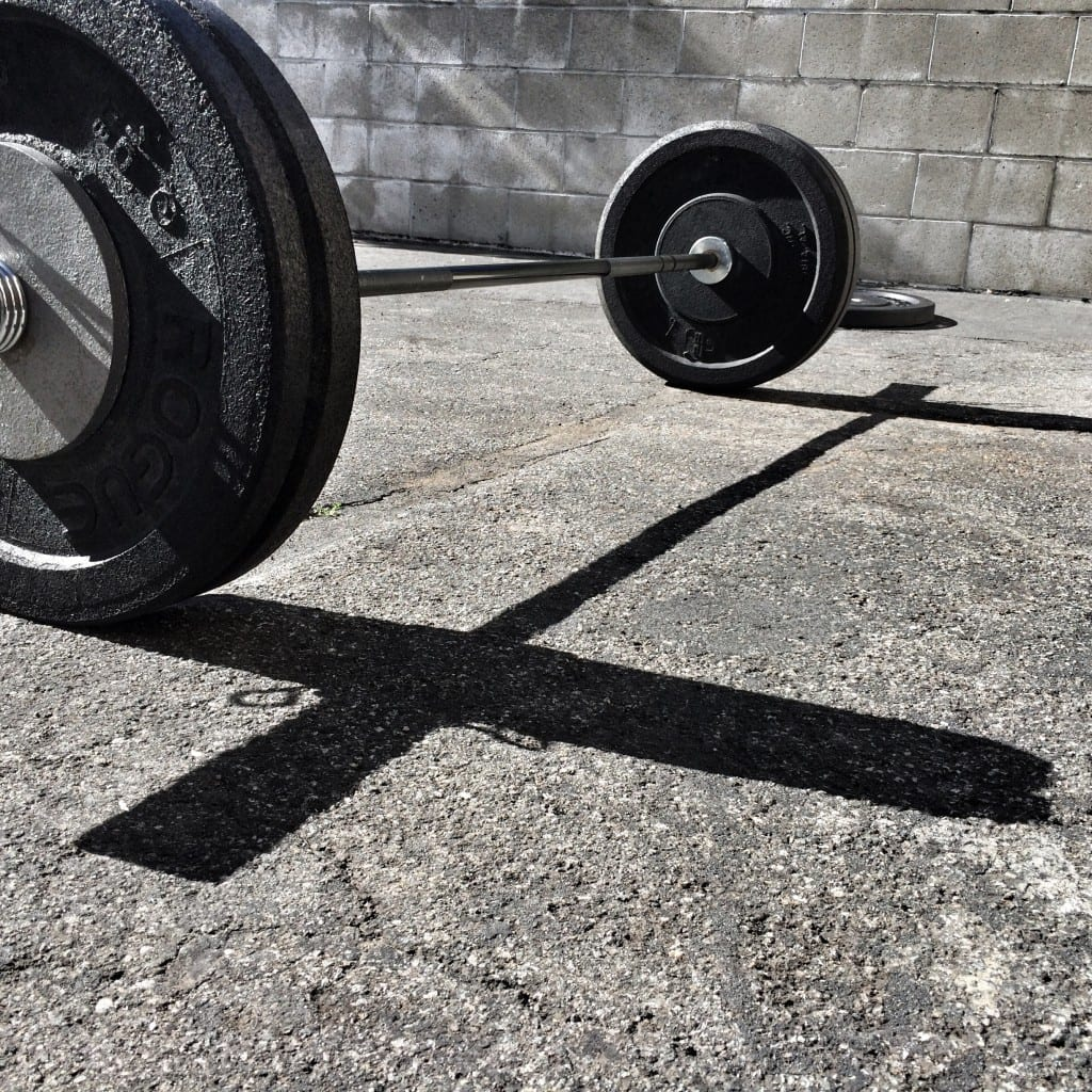 barbell in sun at cf up
