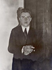 """The poet Hart Crane. He folded his suit jacket perfectly on the deck of the Orizaba in 1932 and exclaimed """"Goodbye everybody!"""" before plunging into the Gulf of Mexico. His body was never recovered."""