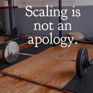 Scaling is not an apology by lisbeth
