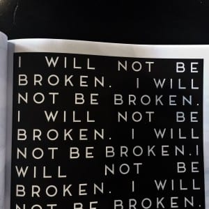 I will not be broken from FUNctional fitness coloring book