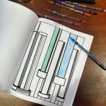 barbells from FUNctional fitness coloring book