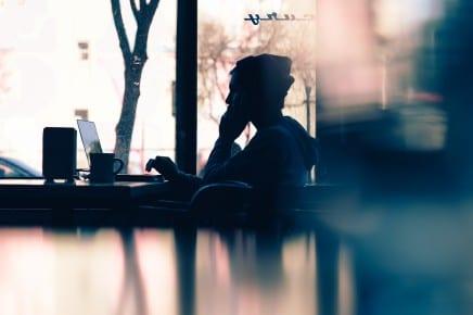 unsplash coffee shop person