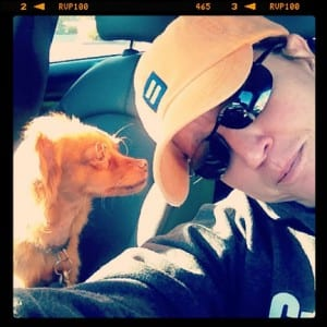 lisbeth with jasper orange hat