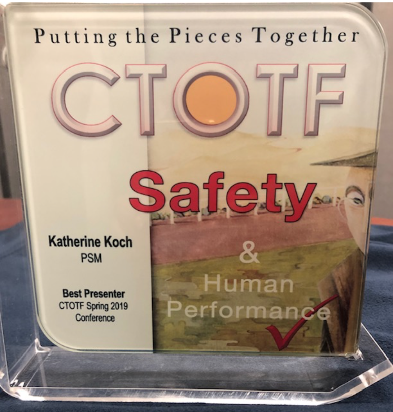 PSM's Katie Koch honored by the CTOTF committee with 'Best Presenter' Award